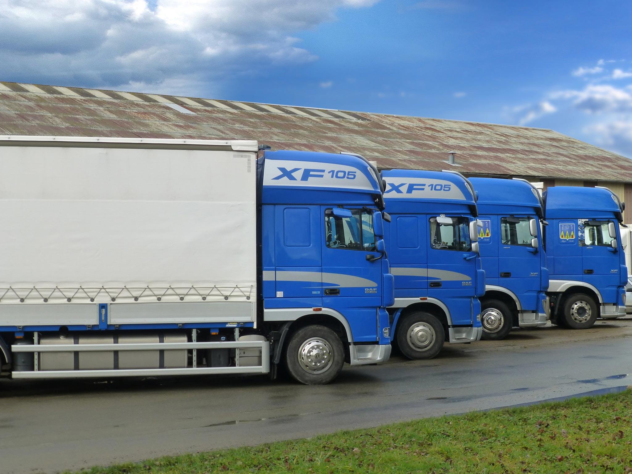 Flotte de poids lourds, transporteur en Sarthe (Vannier)