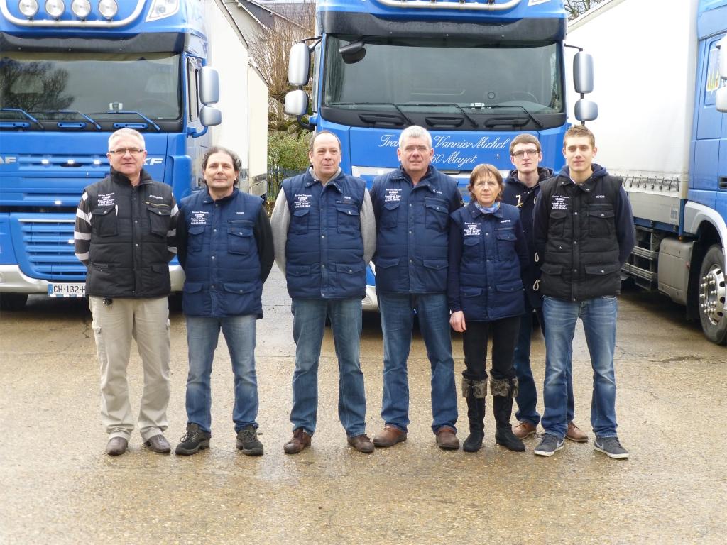 L'équipe Transports Vannier 2015