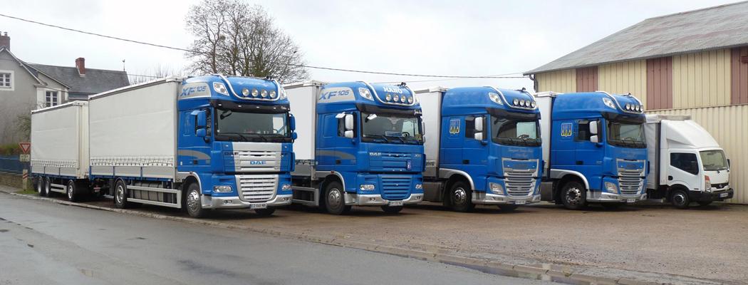 Parc de camions, transporteur entre Paris et la Sarthe