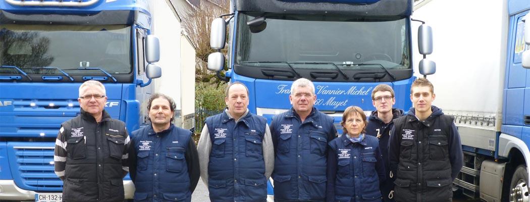 Personnel, transporteur Vannier (Sarthe)